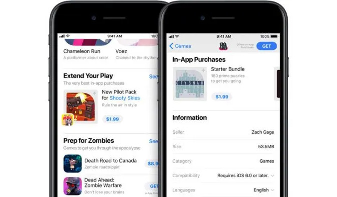 What kind of in-app purchases are part of app